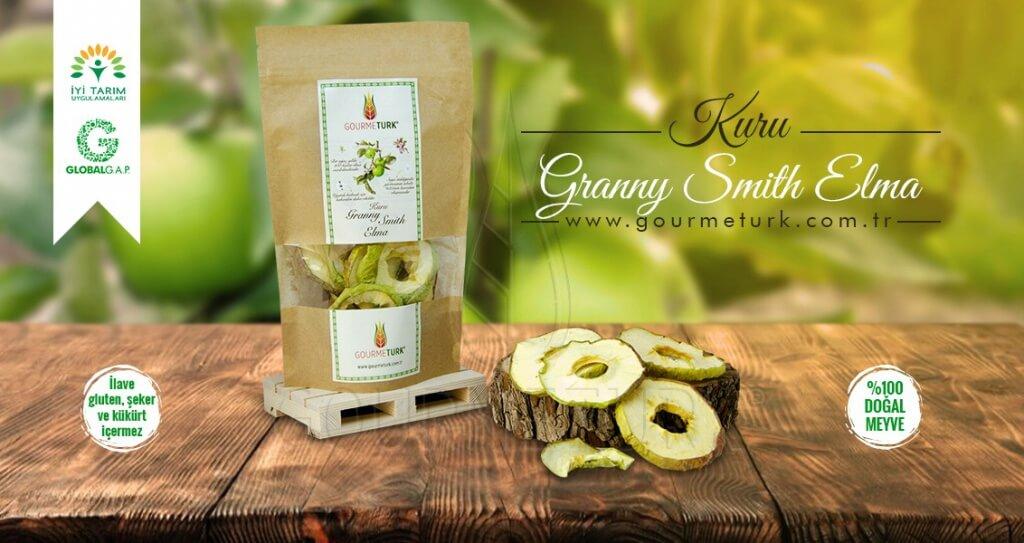 Gourmeturk paketlenmiş kuru granny smith elma