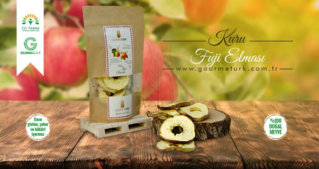 Gourmeturk paketlenmiş kuru fuji elması